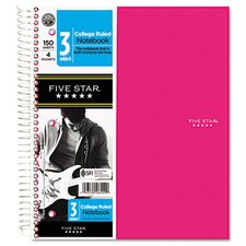 Five Star Trend Wirebound Notebook, 3-Sub, College , 8 1/2 X 11, 3 Subject 150 Sheets