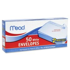 Press-it Seal-it Business Envelope, 4 1/8 x 9 1/2, 20 lb, White, 50/Box (Set of 3)