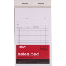 """3.25"""" x 5.88"""" Sales Pad with Duplicates (50 Count)"""