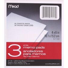 """4"""" x 6"""" Memo Pad (3 Count)"""