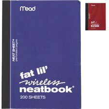 "5.5"" x 4"" College Ruled Fat Lil Wireless Notebook"