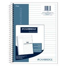"""8.5"""" x 11"""" Cambridge Stiff Back Wirebound Notebook"""