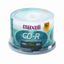 Spindle Cd-R Discs, 700Mb/80Min, 48X, 50/Pack