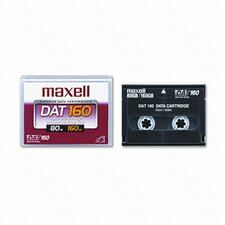 8 mm DAT 160 Data Cartridge, 155m, 80GB Native/160GB Compressed Data Capacity