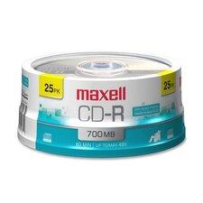 CD-R, 80 Min/700MB, 48X, Branded, 25/PK
