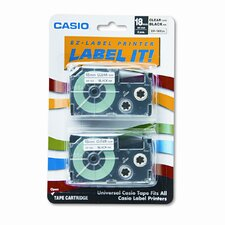 18X2S Tape Cassettes for Kl Label Makers, 18Mm X 26Ft, 2/Pack