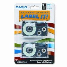 9WEB2S Tape Cassettes for Kl Label Makers, 9Mm X 26Ft, 2/Pack