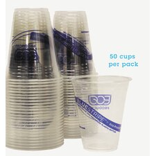 Bluestripe Recycled Content Cold Drink Cups, 12 Oz, 50/Pack