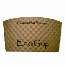 Ecogrip Recycled Content Hot Cup Sleeve, Kraft, 1300/Carton
