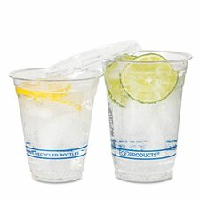 Bluestripe Recycled Content Cold Drink Cups, 16 Oz, 50/Pack