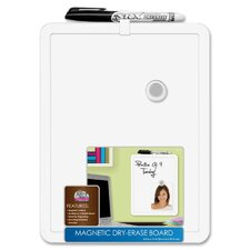 Wall Mounted Magnetic Whiteboard, 1' x 1'