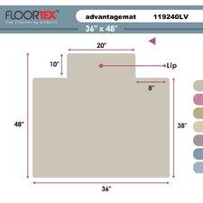 Cleartex Advantagemat High Pile Carpet Chair Mat