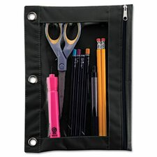 Advantus Binder Pencil Pouch, 10 X 7 3/8 (Set of 3)