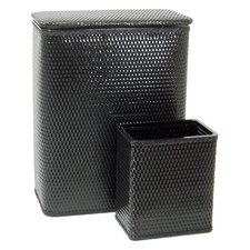 Chelsea Hamper & Matching Wastebasket Set