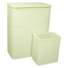 Chelsea Hamper & Matching Wastebasket Set