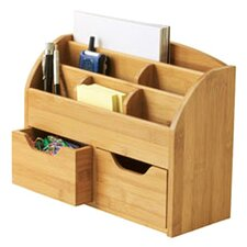 Bamboo Space Saving Desk Organizer