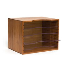 Bamboo File Box with Acrylic Dividers
