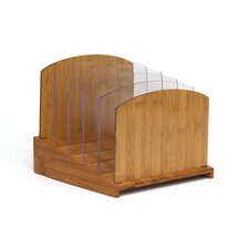 Bamboo Graduated File Organizer with Acrylic Dividers