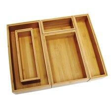 Bamboo 5 Piece Organization Box Set