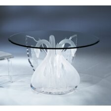 Acrylic Legend Swan Acrylic Round Dinette Dining Table Base