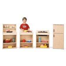 4 Piece Play Kitchen Set