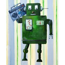 Donka Loves 80s Music Robot Canvas Art