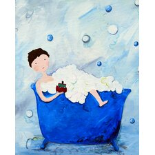 Wit & Whimsy Boy in a Tub Giclée Canvas Art