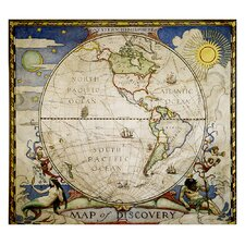Map of Discovery Western Hemisphere