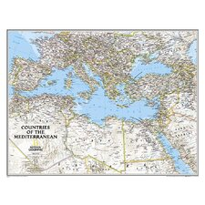 Countries of the Mediterranean Classic Map