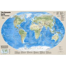 The Dynamic Earth, Plate Tectonics Wall Map