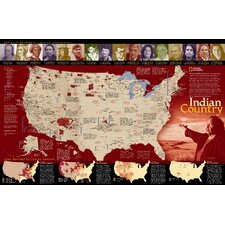 Indian Country Poster Map