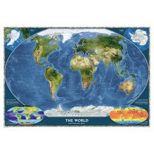 World Satellite Wall Map