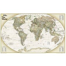 World Explorer Executive Wall Map (Set of 2)