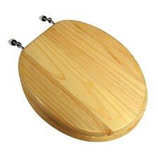 Natural Pine Wood Round Toilet Seat