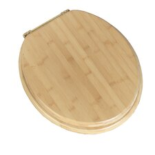 Deluxe Bamboo Round Toilet Seat