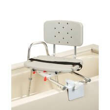 Tub Mount Transfer Bench with Molded Swivel Seat / Back