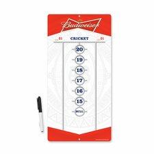 Budweiser Dry Erase Scoreboard