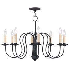 Heritage 8 Light Candle Chandelier