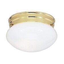 Flush Mount in Polished Brass