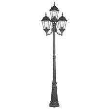 """Hamilton 4 Light 95"""" Outdoor Post Lantern Set"""