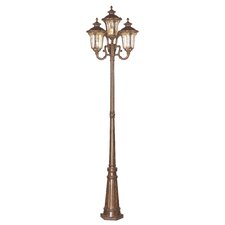 "Oxford 4 Light 93"" Cast Aluminum Outdoor Post Lantern Set"