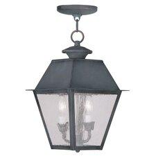 Mansfield 2 Light Outdoor Hanging Lantern