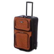 "Amsterdam 25"" Expandable Rolling Suitcase in Orange"