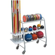 Athletic Gear Track Equipment Carrying Cart