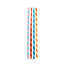Box of 144 Color Striped Paper Straws (Set of 2)