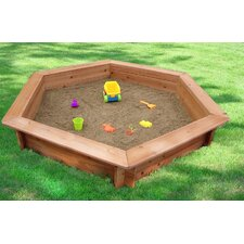 "51"" Hexagonal Sand Box with Rain Cover & Lining"