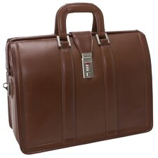 "V Series Morgan Litigator 18"" Leather Laptop Briefcase"
