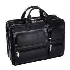 P Series Hubbard Leather Laptop Briefcase