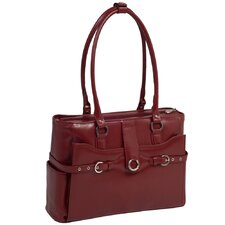 W Series Willow Springs Leather Laptop Briefcase