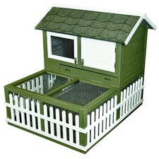 Rabbit Ranch Hutch and Pen Combo
